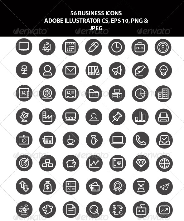 115 creative business icons psd png eps ginva 56 business icons set reheart Choice Image