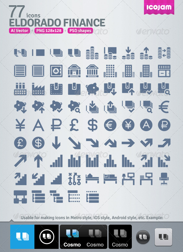 77 ai psd icons set
