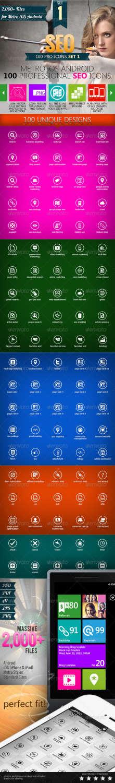 100 metro seo icons