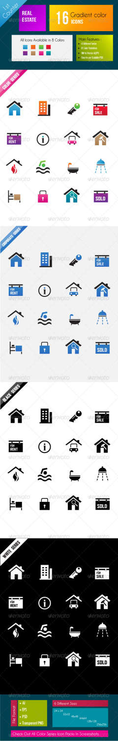 real estate pack icons