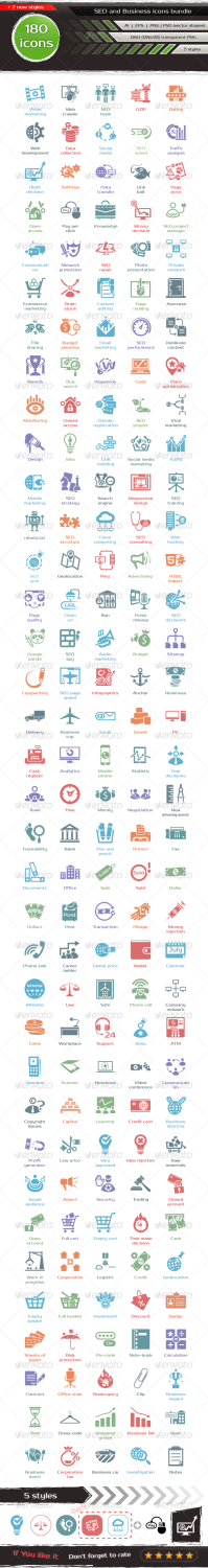 seo bundle icons set