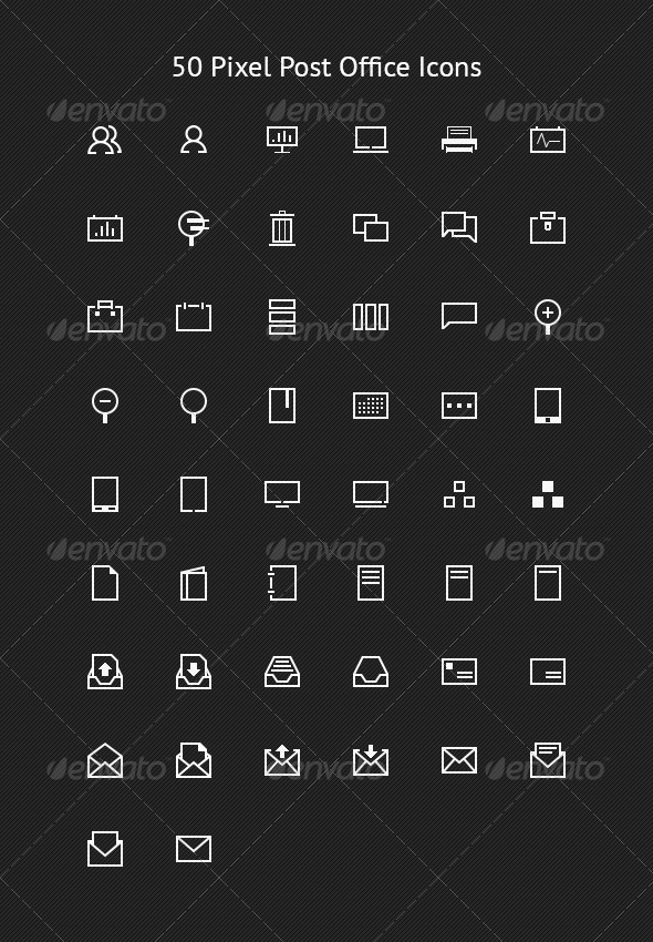 50 pixel postfice icons