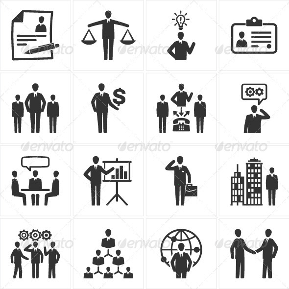 management human resource icons