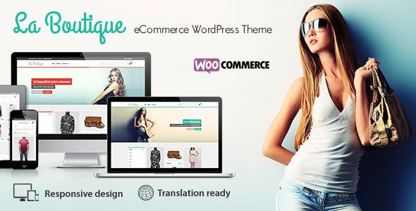 la boutique ecommerce woocommerce wordpress template