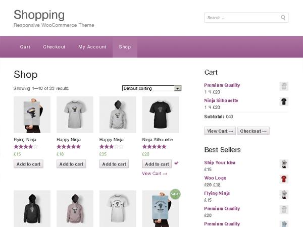 free shopping ecommerce wp layout