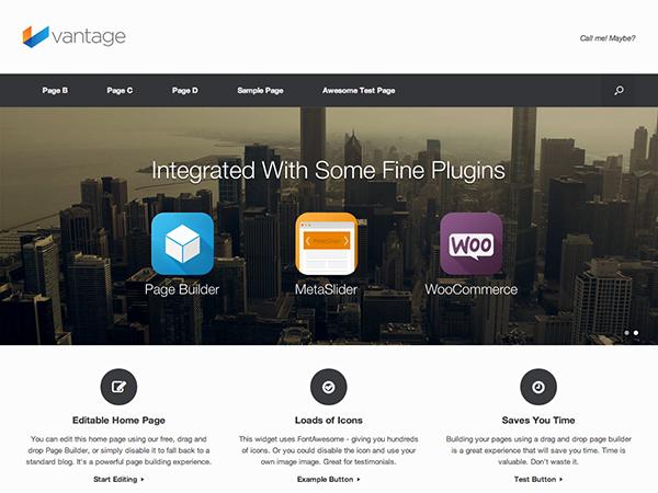 free vantage ecommerce wp theme