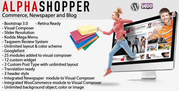 alphashopper ecommerce wordpress template