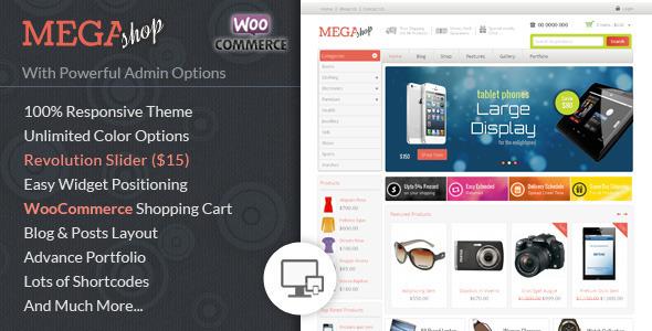 mega ecommerce woocommerce wordpress theme