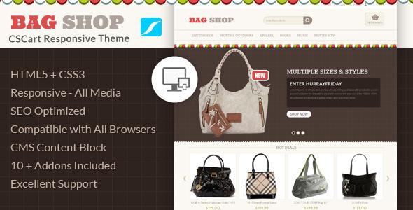 Bag Shop Cscart Responsive Theme
