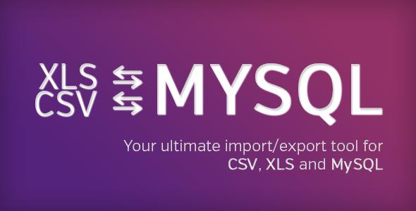 Ultimate database import/export CSV XLS x MySQL