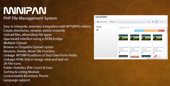 miniPAN PHP File Management System