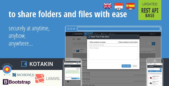 Kotakin with API self host file sharing