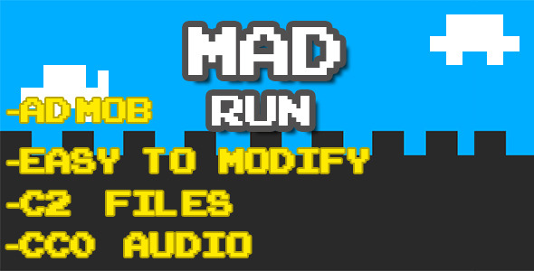 Mad Run - Html5 Game Script