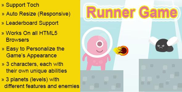 Runner Html5 Game - Html5 Game Script