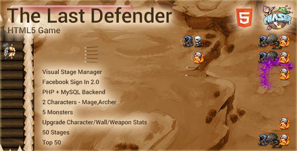The Last Defender Html5 Game - Html5 Game Script
