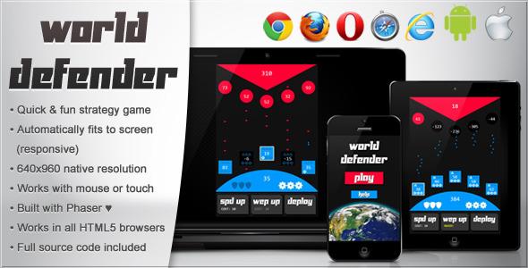 World Defender - Html5 Game Script