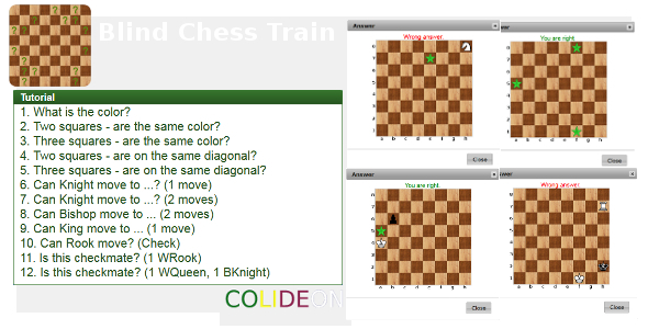 Blind Chess Train Html5 Game. - Html5 Game Script
