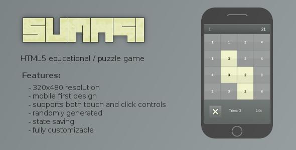 Sumagi Educational Puzzle Game - Html5 Game Script