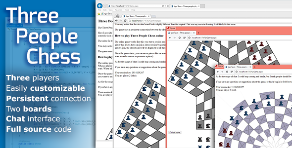 Three People Chess - Html5 Game Script