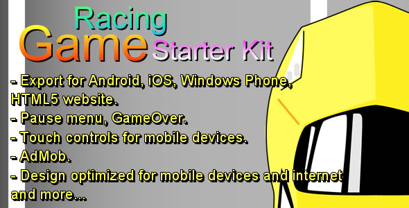 Racing Game Starter Kit - Html5 Game Script