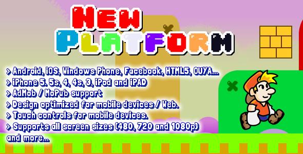 Platform 2D Game Starter Kit - Html5 Game Script