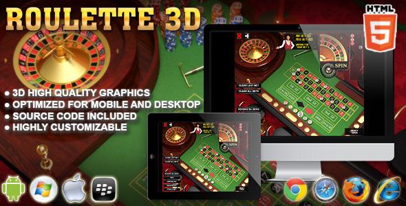 3D Roulette Html5 Casino Game - Html5 Game Script