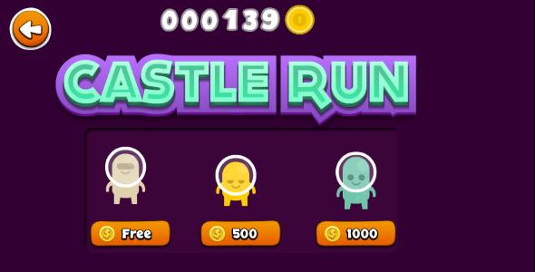 Castle Run Endless Runner With Iap - Html5 Game Script