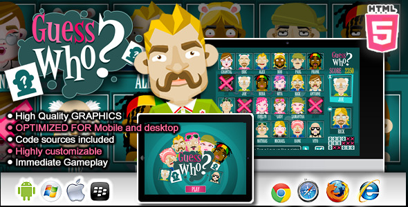 Guess Who Html5 Game - Html5 Game Script