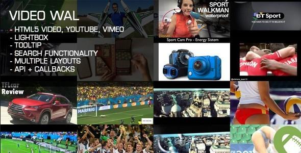 Video Wall - Javascript Media Plugin