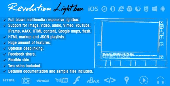 Revolution Lightbox - Javascript Media Plugin