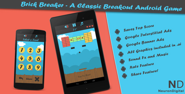 Brick Breaker A Classic Breakout Android Game - Android Game Script