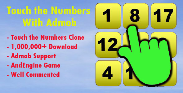 Touch The Numbers Clone With Admob Integrated - Android Game Script
