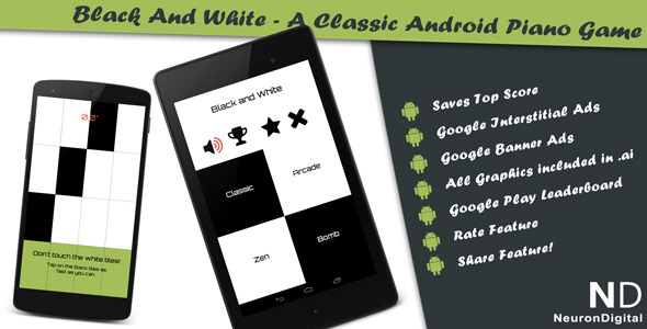 Black And White A Classical Android Piano Game - Android Game Script