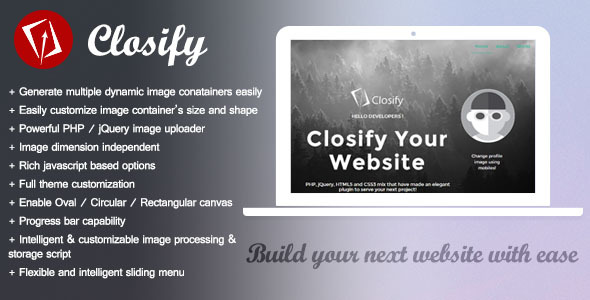 Closify Powerful Flexible Image Uploader - Php Images & Media Script