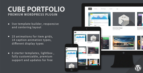 Cube Portfolio Responsive WordPress Grid Plugin - WordPress Galleries Plugin