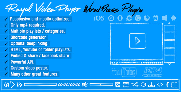 Royal Video Player WordPress Plugin - WordPress Media Plugin