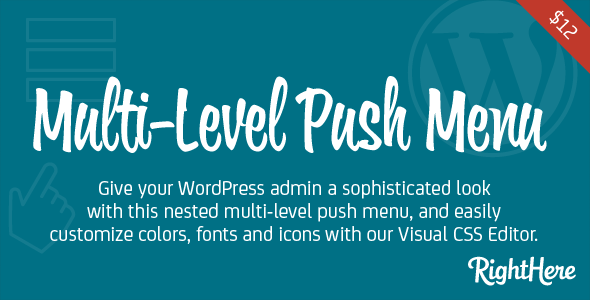 Multilevel Push Menu For WordPress - WordPress Menus Plugin