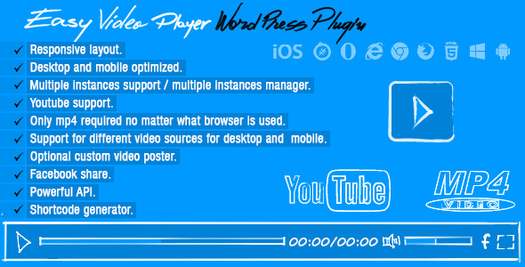 Easy Video Player WordPress Plugin - WordPress Media Plugin