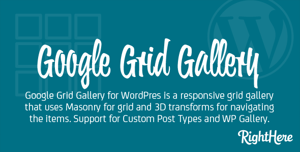 Google Grid Gallery For WordPress - WordPress Galleries Plugin
