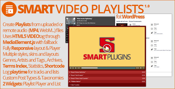 Smart Video Playlists - WordPress Media Plugin