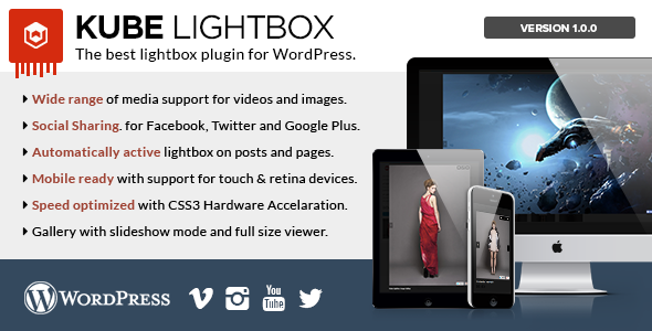 Kube Lightbox Responsive Plugin - WordPress Media Plugin