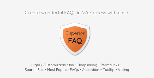 Superior Faq WordPress Plugin - WordPress Utilities Plugin