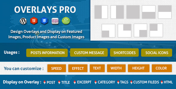 Overlays Over Images WordPress Plugin - WordPress Utilities Plugin