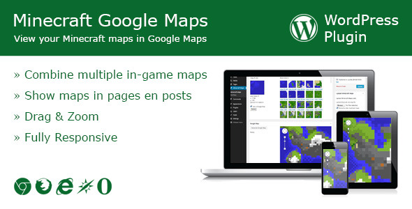 Minecraft Google Maps WordPress Plugin - WordPress Utilities Plugin