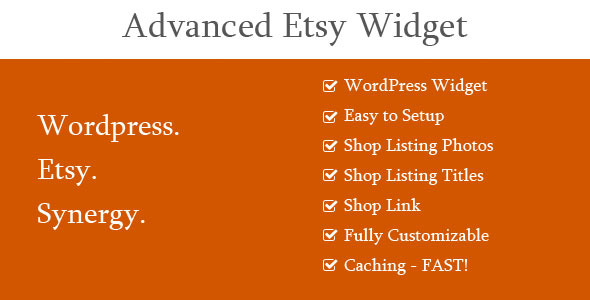 Advanced Etsy Widget - WordPress Widgets Plugin