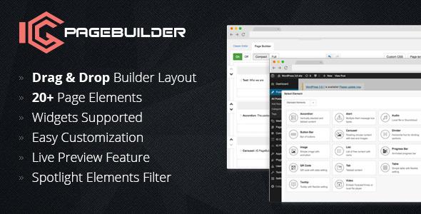 Ig Pagebuilder - WordPress Utilities Plugin