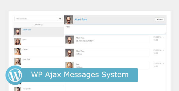 Wp Ajax Messages System - WordPress Utilities Plugin