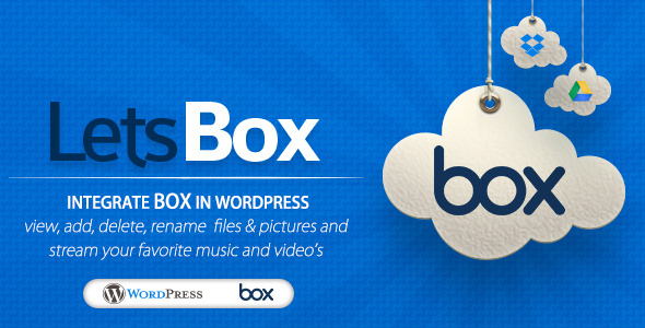 Letsbox Box Plugin For WordPress - WordPress Utilities Plugin