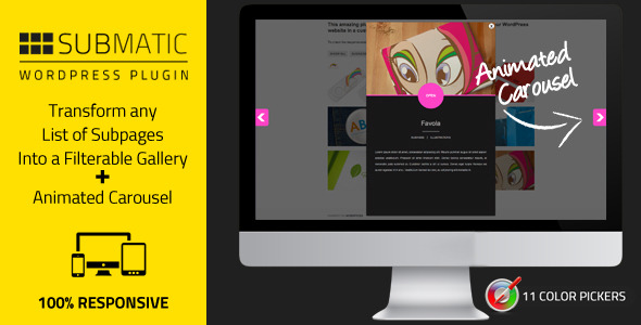Submatic List WordPress Subpages As Galleries - WordPress Utilities Plugin