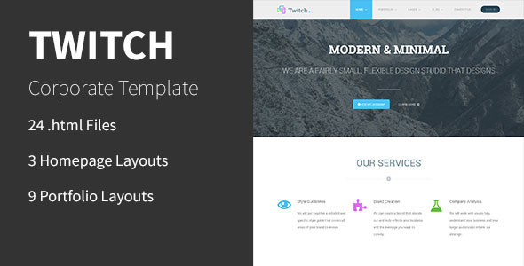 Twitch html business template